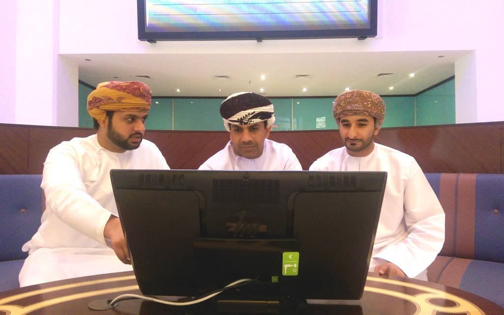 Financial and industrial stocks are down on the Muscat index at closing